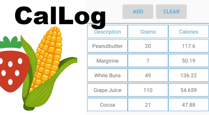 Cal-Log, The Calorie Logger App for Android