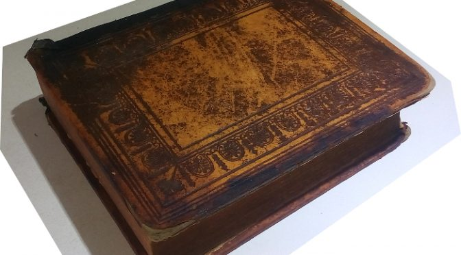Antique Bible Old Testament in Hebrew and English Printed in 1877